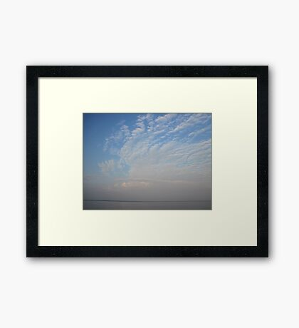 Guardian Angel Clouds Framed Print
