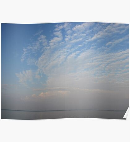 Guardian Angel Clouds Poster