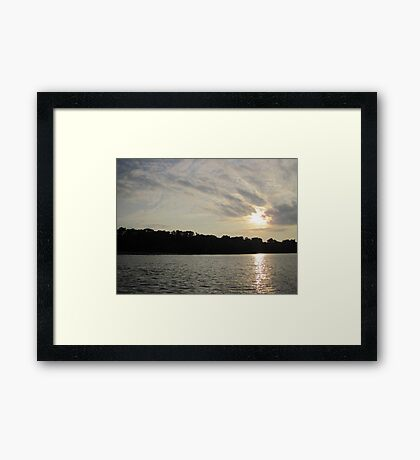 Fanciful Sun Cloudscape Framed Print