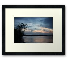 Lac LaBelle Sunset Framed Print