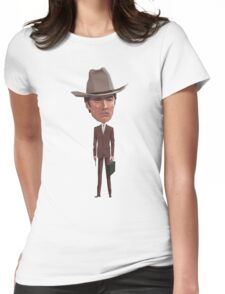 Clint means business Womens Fitted T-Shirt