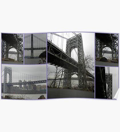 George Washington Bridge Collage Poster