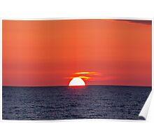 Orange sunset III Poster