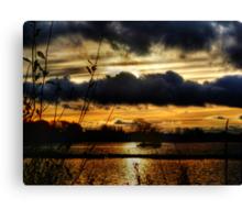 Yeadon Tarn Sunset 2 Canvas Print