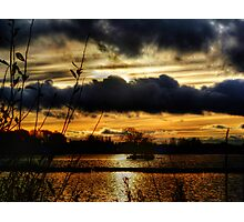 Yeadon Tarn Sunset 2 Photographic Print