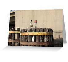 Goose on Barge Bumper Greeting Card