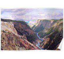 Yellowstone River & Canyon- Yellowstone National Park Poster