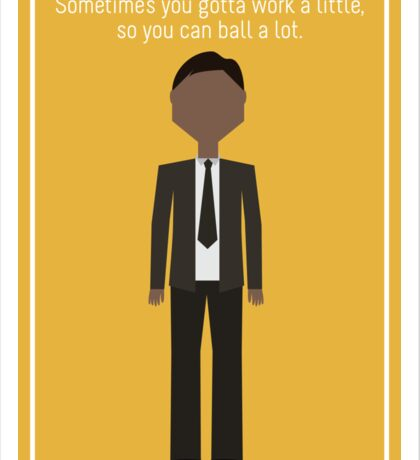 "Tom Haverford: ""Work a Little"" Sticker"