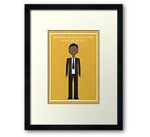 """Tom Haverford: """"Work a Little"""" Framed Print"""