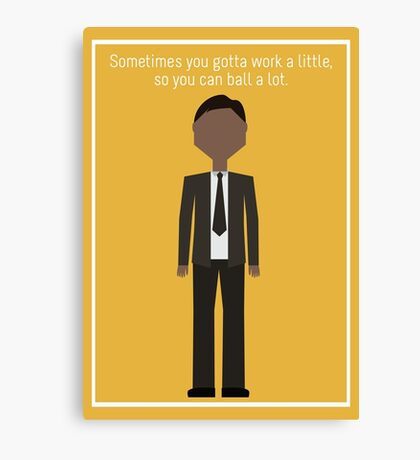 "Tom Haverford: ""Work a Little"" Canvas Print"
