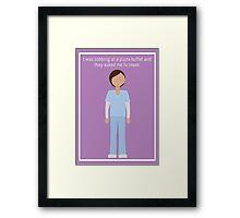 """Ann Perkins: """"Pizza Buffet"""" Framed Print"""