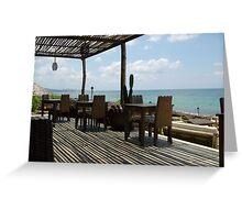 Asian beach patio Greeting Card