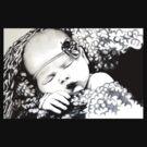 My Daughter, Grace - charcoal portrait, clothing, stickers, iphone case by Lauren Eldridge-Murray