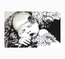 My Daughter, Grace - charcoal portrait, clothing, stickers, iphone case Kids Tee