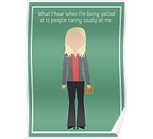 """Leslie Knope: """"Caring Loudly"""" Poster"""