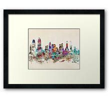 san diego california skyline Framed Print