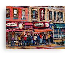 SCHWARTZ'S DELI MONTREAL SMOKED MEAT CANADIAN ART Canvas Print
