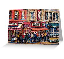 SCHWARTZ'S DELI MONTREAL SMOKED MEAT CANADIAN ART Greeting Card