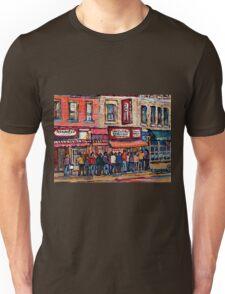 SCHWARTZ'S DELI MONTREAL SMOKED MEAT CANADIAN ART Unisex T-Shirt