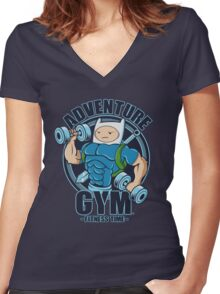ADVENTURE GYM Women's Fitted V-Neck T-Shirt