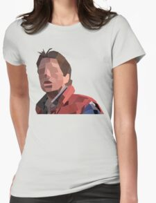 Marty Mcfly Polygons Womens Fitted T-Shirt