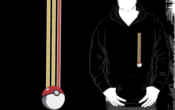 Pikachu Pokeball Stripes v3 by HighDesign
