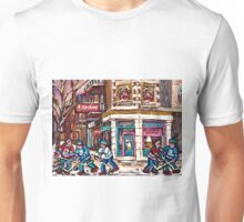 MONTREAL MEMORIES ST. AUBIN ICE CREAM SHOP ORIGINAL CANADIAN ART Unisex T-Shirt