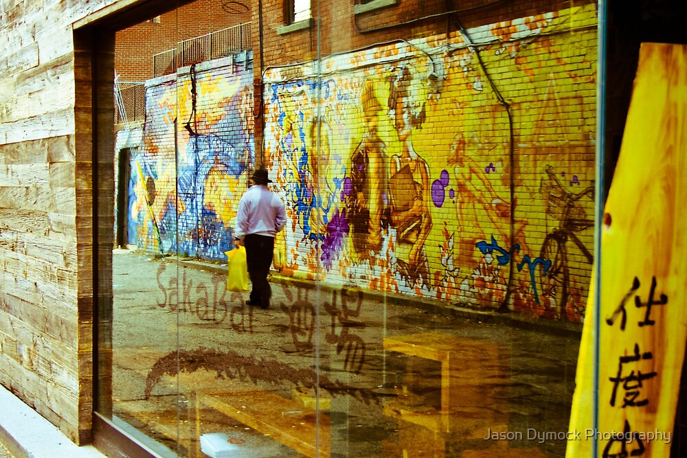 Graffiti in all it's refective glory by Jason Dymock Photography