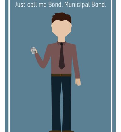"""Ben Wyatt: """"Municipal Bond"""" Sticker"""