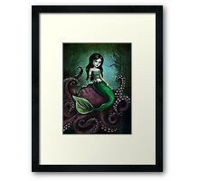 Dark Mermaid Octopus Framed Print