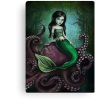 Dark Mermaid Octopus Canvas Print