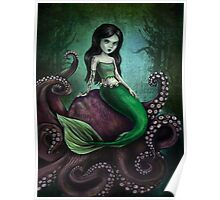 Dark Mermaid Octopus Poster