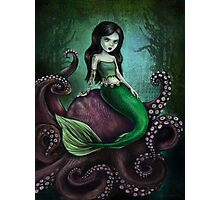 Dark Mermaid Octopus Photographic Print