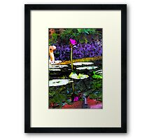 Stylized Reflection of a Pink Water Lily Framed Print