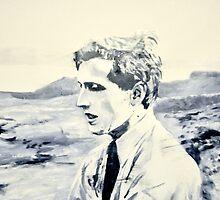 Bobby Fischer in Reykjavik by EckhardBesuden