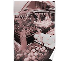 Fruitstand at Quincy Market in Boston Poster