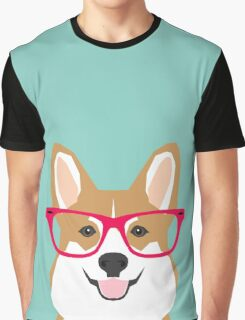 Teagan Glasses Corgi cute puppy welsh corgi gifts for dog lovers and pet owners love corgi puppies Graphic T-Shirt