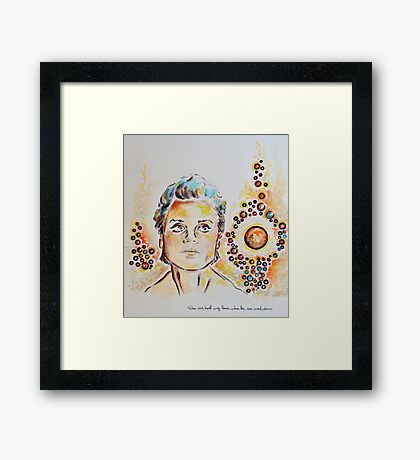 Miss Halfway There Framed Print