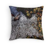 Ice crystals on green Throw Pillow