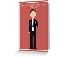 """Chris Traeger: """"Anxiety"""" Greeting Card"""