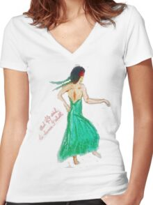 If I wish to dance Tee Women's Fitted V-Neck T-Shirt