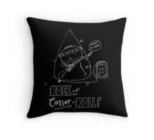 Rock n' Casser-roll Throw Pillow