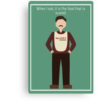 "Ron Swanson: ""When I Eat"" Canvas Print"