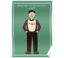 "Ron Swanson: ""When I Eat"" Poster"