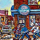 MONTREAL MEMORIES WALDMAN'S FISH MARKET PLATEAU MONTREAL ART by Carole  Spandau