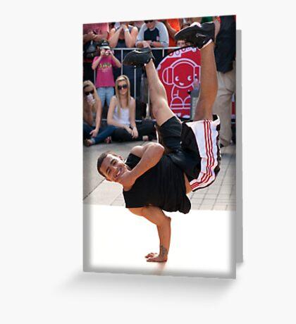 USA Breakdancers Greeting Card