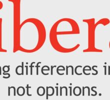 Liberal - Embracing Differences - White Sticker