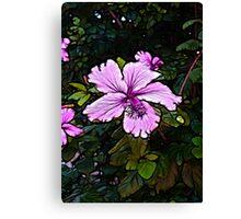 Vibrant Purple Pink Flower  Canvas Print