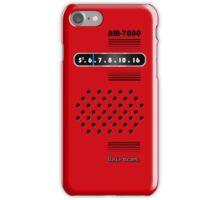 Transistor Radio - 70's Red iPhone Case/Skin