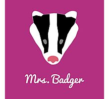 Mrs. Badger Photographic Print
